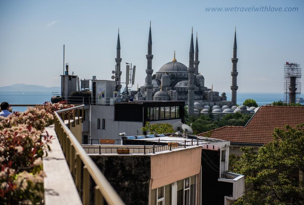 pohľad na Modrú mešitu