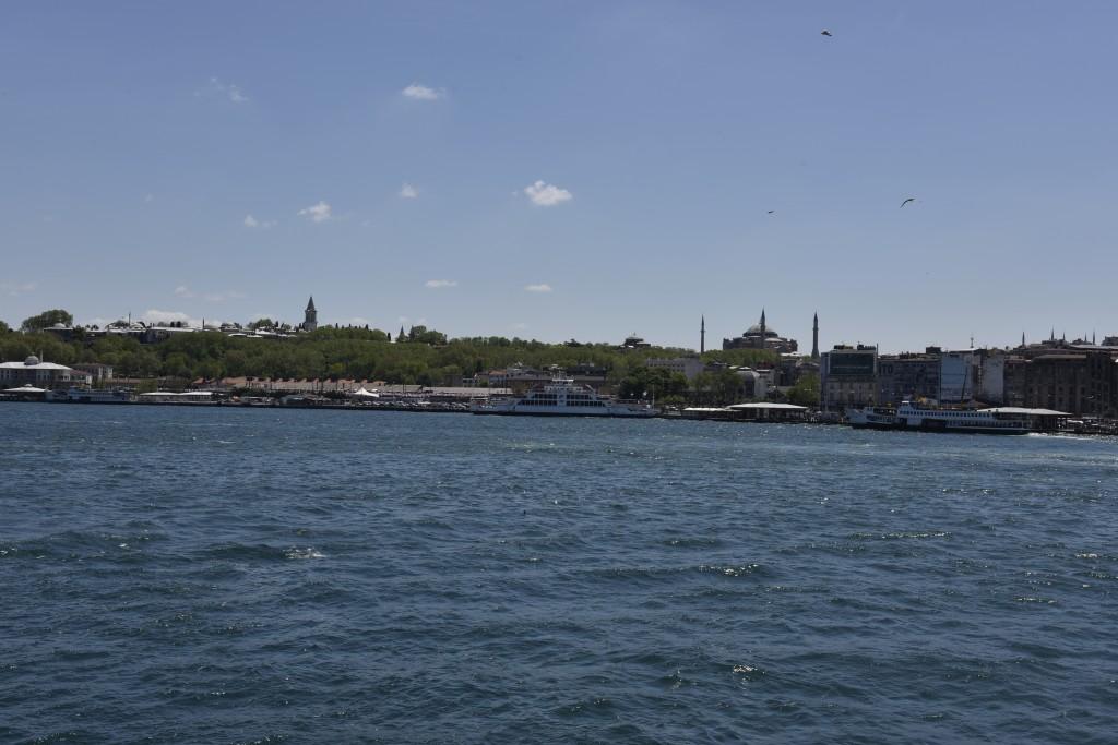 Pohľad na historickú časť Istanbulu