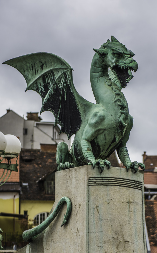 Dragon bridge in Ljubljana, Slovenia