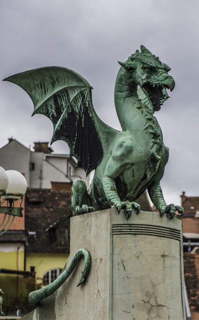 Dragon bridgeinLjubljana, Slovenia