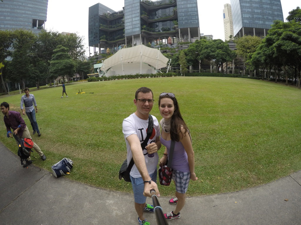 In front of Parkroyal on Pickering hotel, Singapore