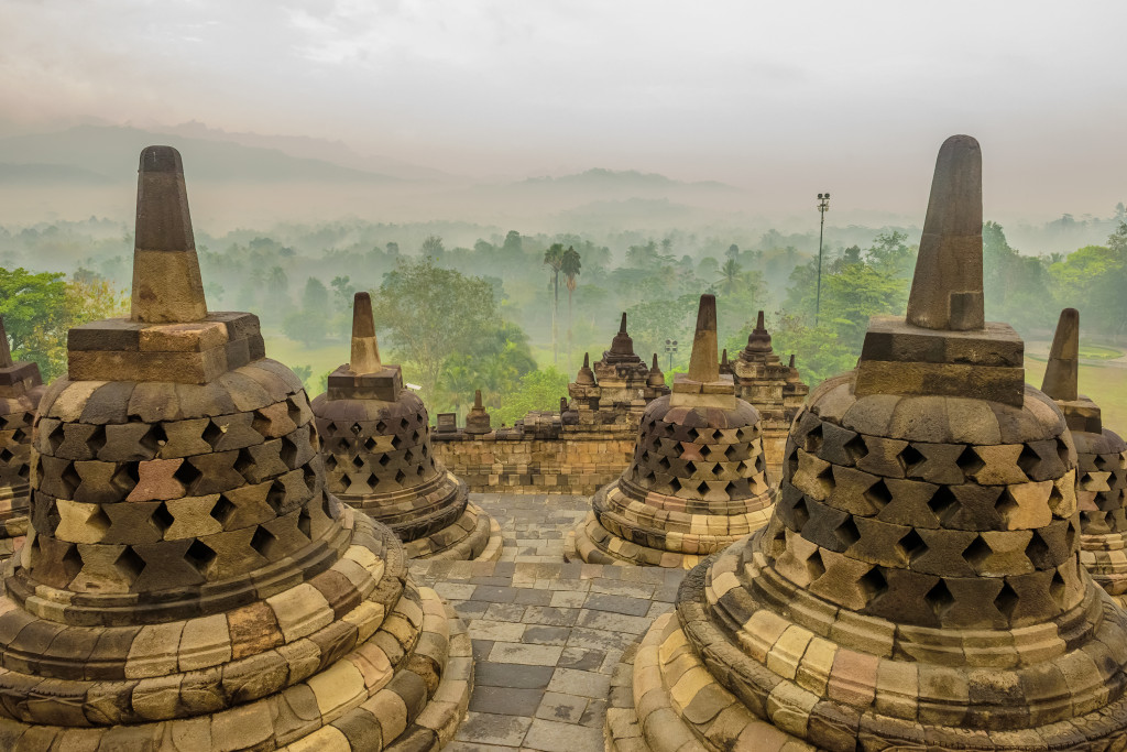 View from Borobudur, Indonesia
