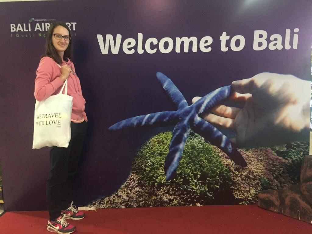 Na letisku, po príchode na Bali