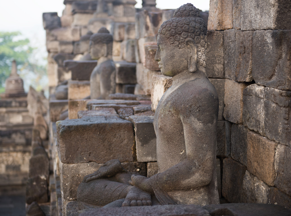 Buddhovia v Borobudure