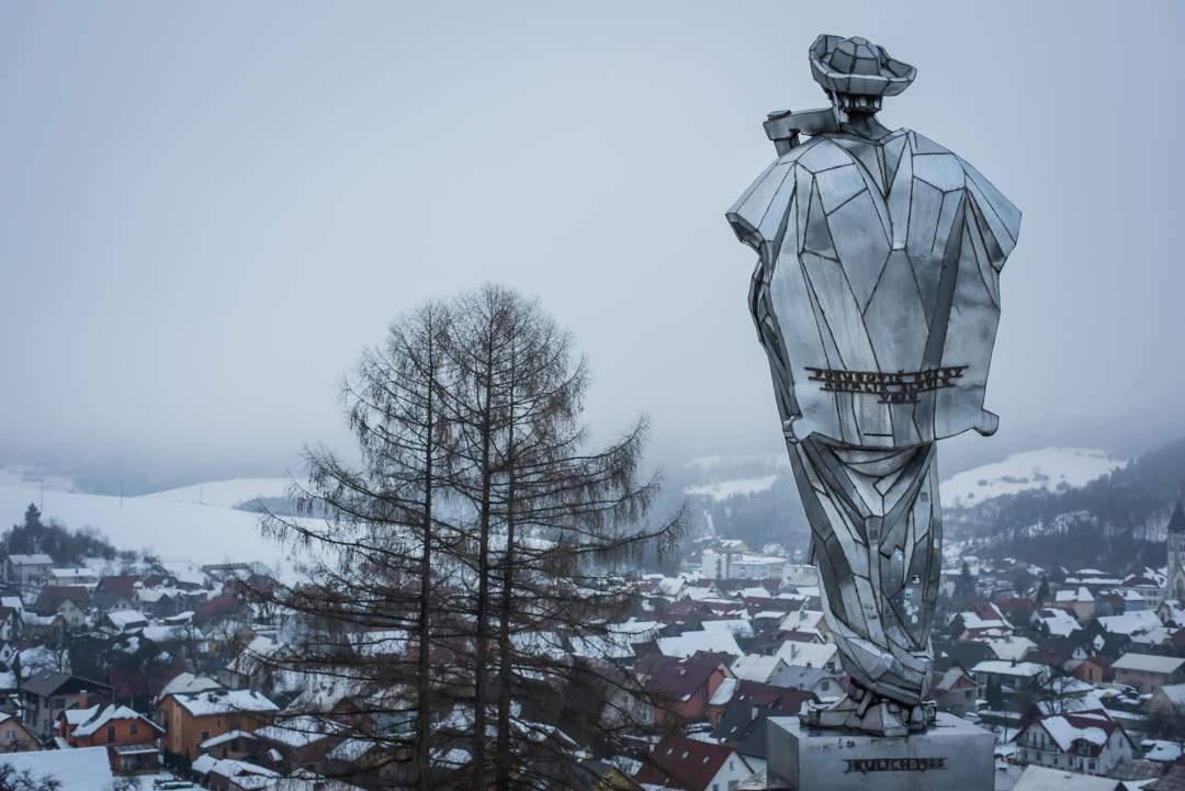 Terchová pohľad od sochy Jánošíka