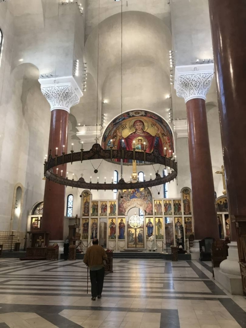 Interior of the Cathedral of Saint Marc in Belgrade