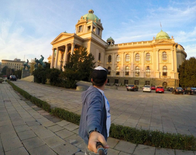 In front of Serbian National Assembly, Belgrade